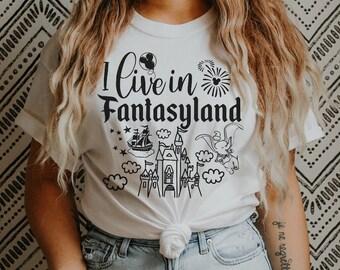 Disney Tee Fantasyland Womens Tee Frontierland Adventureland Disney World Disneyland Tomorrowland MK Lands Tee Disney Outfit