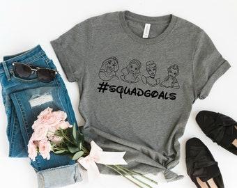7e9f92083 Disney Princess Squad Goals Graphic Tee, Disney Shirt, Adult Disney Shirts,  Matching Family Tees, Cinderella T-Shirt, Mickey Mouse T-Shirts