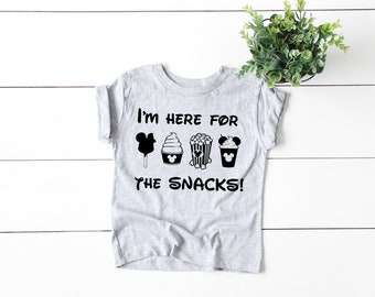 cfe881bb7 Here For The Snacks Baby and Toddler Shirt, Disney World, Disney Land,  Mommy and Me, Disney Vacation, Minnie Mouse, Mickey Mouse, Family Tee