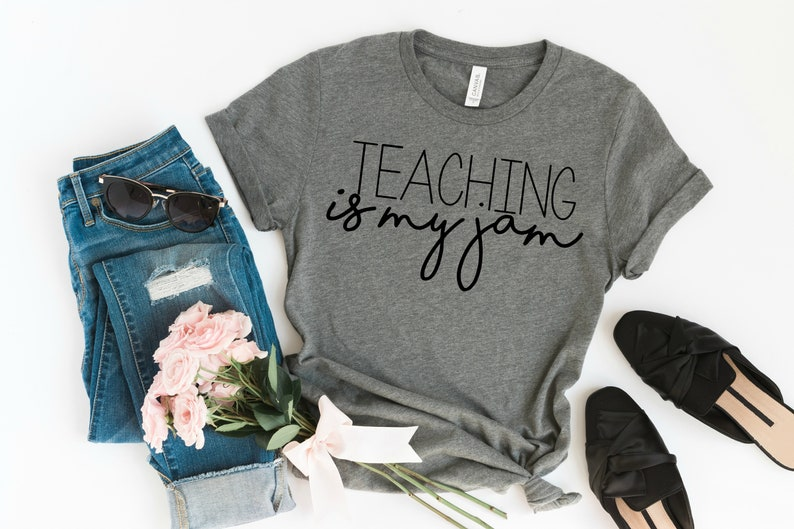 c3b38fbccd Teaching is my Jam Tee Teacher Shirt Teacher Appreciation | Etsy