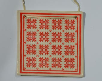 Quilt Ornament Goose In The Pond Pattern