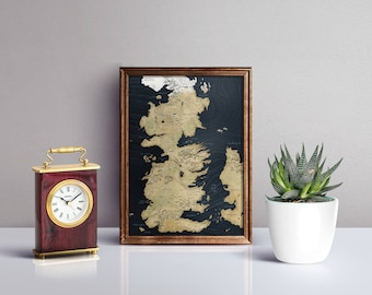 Game of Thrones Map - Cool gift - Map from The TV show Game of Thrones - Antique Style Vintage World Map - Top Selling Gifts