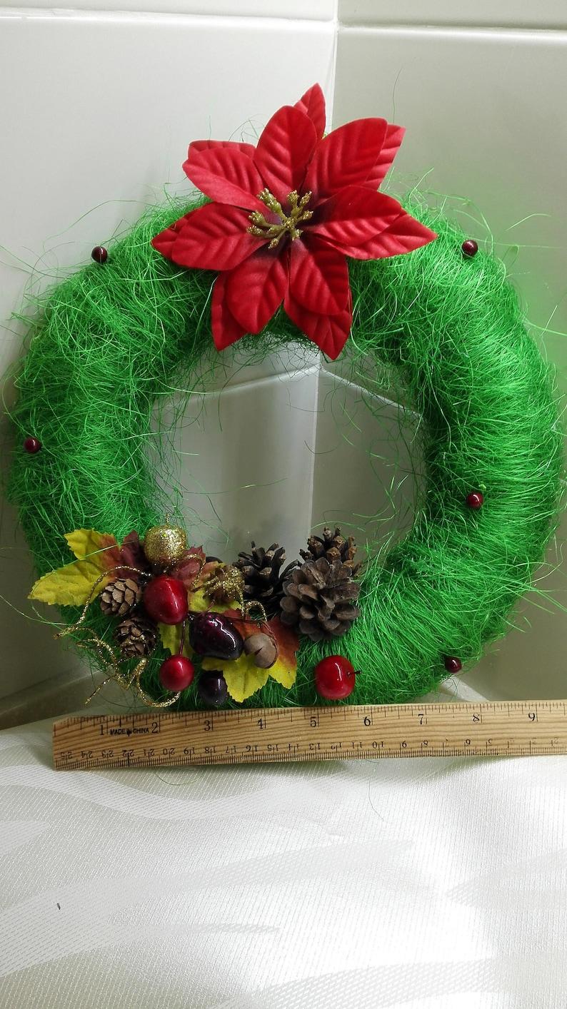 Christmas wreath for door Christmas 2019 gifts  Christmas decorations Green wreath Door decoration Christmas decor Wreath for door