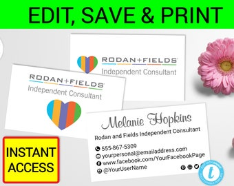 Rodan and fields business card template printable r f cards r etsy rodan and fields business card template printable rf cards rf card rf business card heart rf card rf business card rodan fields cards accmission Image collections