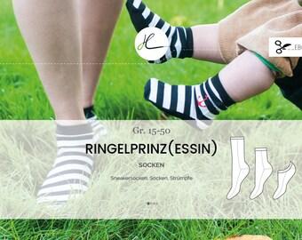 "eBook ""Ringelprinz(essin)"" Socken Gr.15-50"