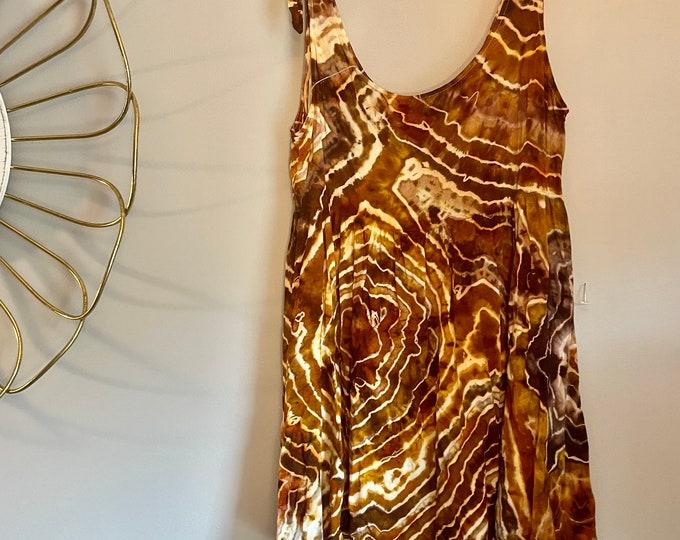 Size M/L Tiger's Eye Tie Dress