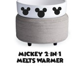 MICKEY 2-in-1 Melts Warmer Disney Soy Wax Melts Candle Jar or Clamshell Tart Warmer Plug-In Main Street Melts Candle Co. Magic Mouse Scents