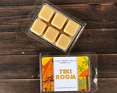 TIKI ROOM Disney Soy Wax Melts Adventureland - Inspired Candle Natural Soy Wax - Main Street Melts Candle Co. Clamshell Tart Melt Scents