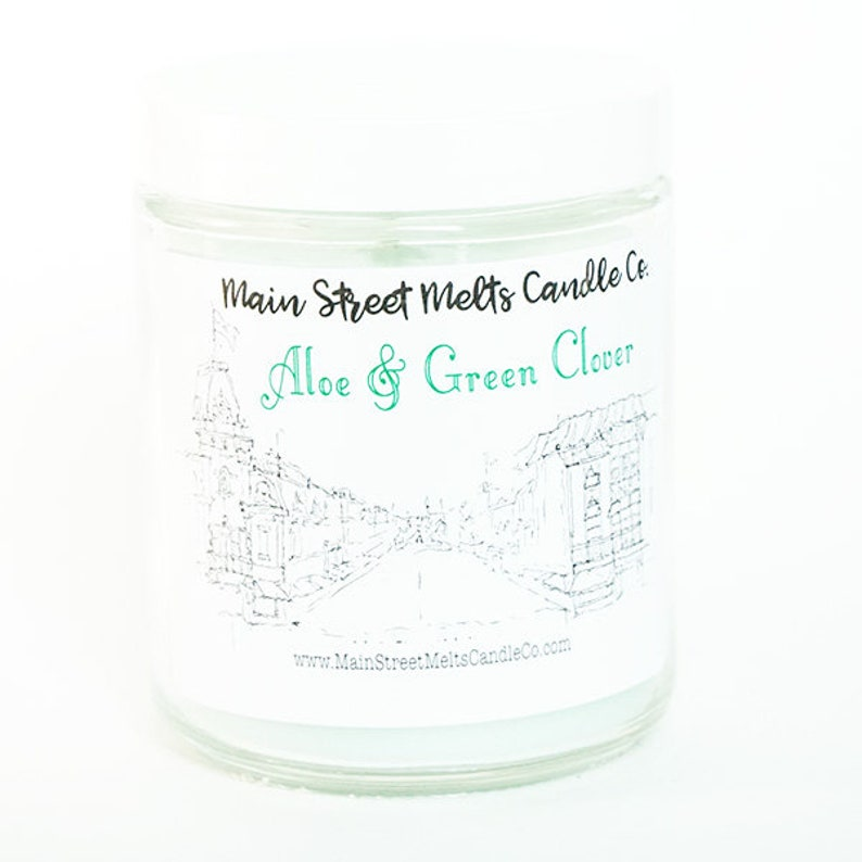 ALOE and GREEN CLOVER Disney Candle  9oz Jar / Disney  image 0