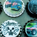 Gambler 500 Refrigerator Magnets, Magnetic Bottle caps 6-Pack, Gifts for him, Rally, Off Road Race, Car Show, ABG, Car Accessories
