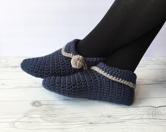 Häkeln Sie Häkeln Pantoffeln Frauen Hausschuhe Gestrickte Etsy
