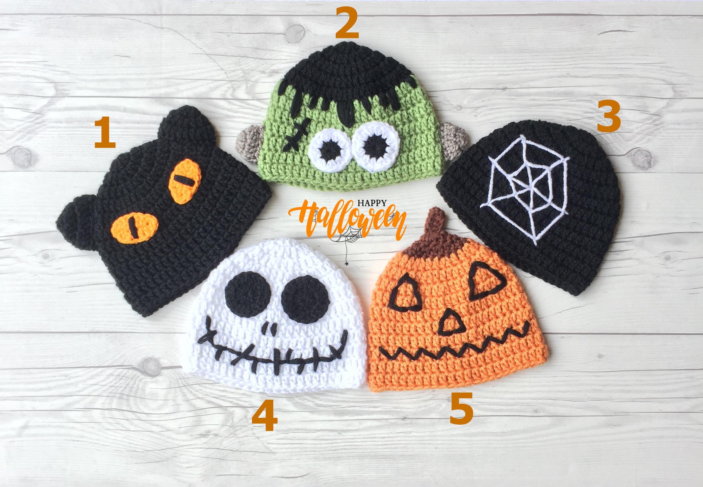 Halloween Hat Crochet Halloween Hat Halloween Costume Etsy