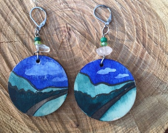 Pacific Northwest Inspired Mountain Earrings