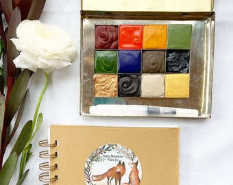 The Lucky Strike Gift Set, a handmade watercolor gift set for cozy winter nights