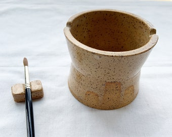 Ceramic water cup  and Brush Rest set for watercolor painting