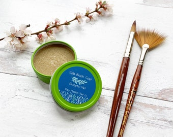Solid Brush Soap for Paint Brushes- Vegan/Cruelty-free!