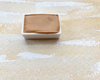Sand. Half pan, full pan or bottle cap of handmade watercolor paint
