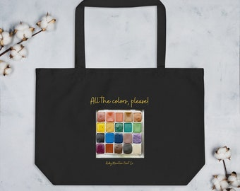 All the Colors Large organic tote bag