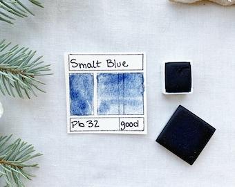 Smalt Blue. Half pan, full pan or bottle cap of handmade watercolor paint