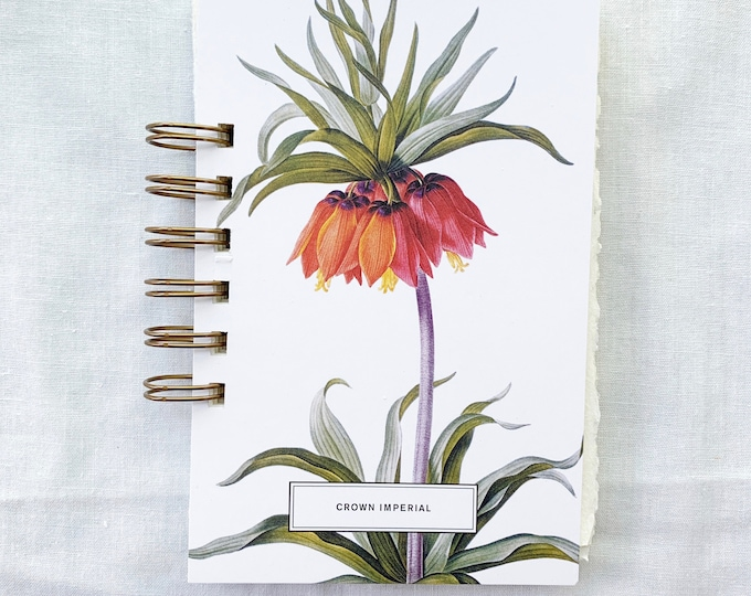 Featured listing image: Crown Imperial Watercolor Sketchbook. Handmade watercolor sketchbook