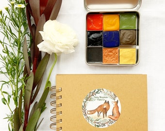 Holiday Florals Gift Set, a handmade watercolor gift set for the holidays