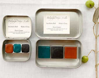 Delightful Ways- Three Color Palette.  A special collaboration palette