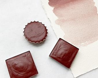 Red Wine. Half pan, full pan or bottle cap of handmade watercolor paint