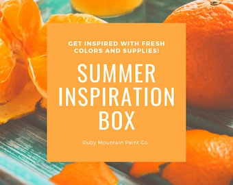 Summer Inspiration Box, a box of art supplies to inspire your summer art making