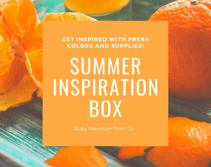 Featured listing image: Summer Inspiration Box, a box of art supplies to inspire your summer art making