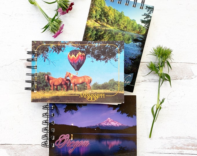 Featured listing image: Road Trip Collection, spiral bound, handmade Watercolor Sketchbooks