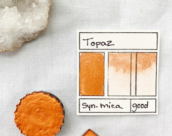 Topaz. Half pan, full pan or bottle cap of handmade watercolor paint