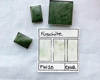 Fuschite.  Half pan, full pan or bottle cap of handmade watercolor paint