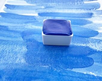 Snow Shadow. Half pan, full pan or bottle cap of handmade watercolor paint