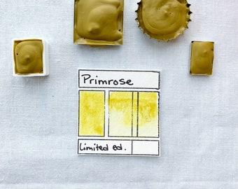 Primrose.  Half pan, full pan or bottle cap of handmade watercolor paint