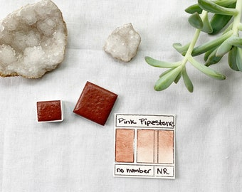Pink Pipestone. Half pan, full pan or bottle cap of handmade watercolor paint