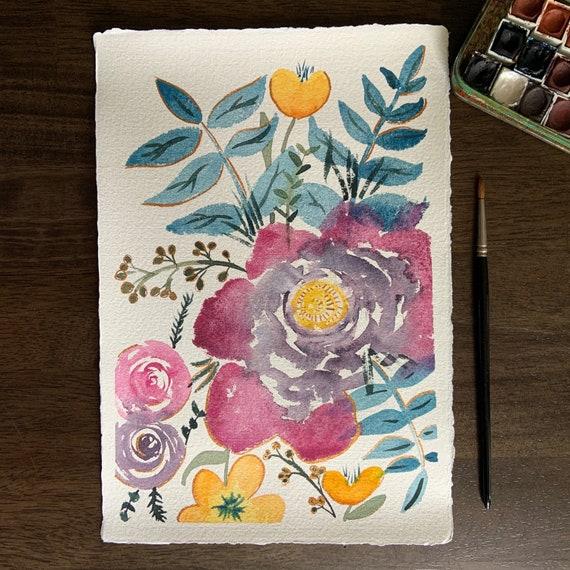 Summer Flowers - original watercolor painting