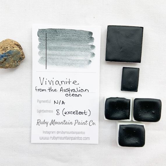 Vivinanite. Half pan, full pan or bottle cap of handmade watercolor paint