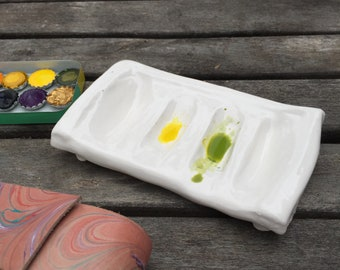 Ceramic Mixing Palette for watercolor painting