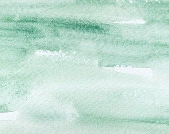 Nicosia Green Earth. Half pan, full pan or bottle cap of handmade watercolor paint