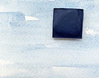 Lazurite. Half pan, full pan or bottle cap of handmade watercolor paint
