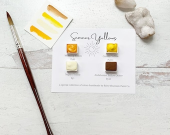 The Summer Yellows, a palette-building collection of handmade watercolors
