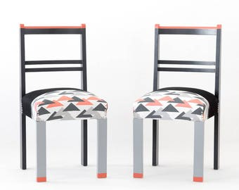 Vintage détails fluorescents de chaise