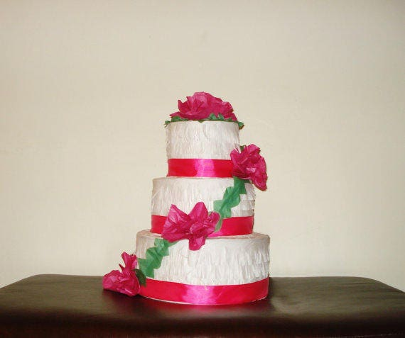 Fantastic Pink Cake Pinata Birthday Cake Pinata Etsy Funny Birthday Cards Online Alyptdamsfinfo