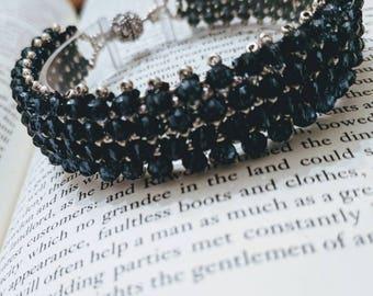 Sapphire blue crystal capricho bracelet