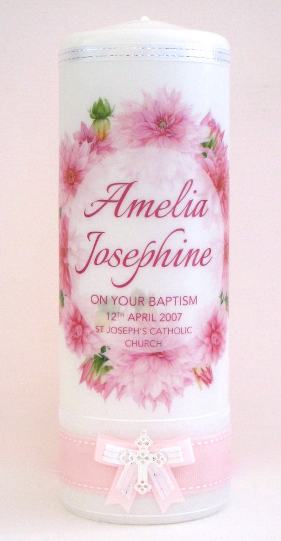 Personalised Baptism and Christening Candle