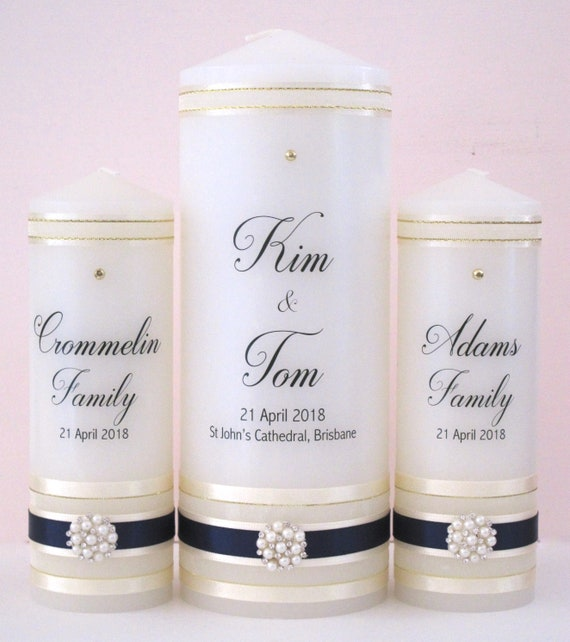 Personalised Wedding Candle Set