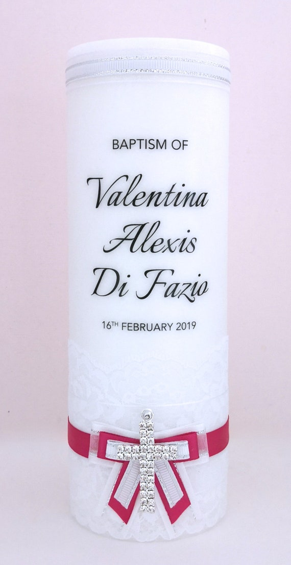 Personalised Christening and Baptism Candle