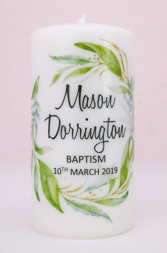Personalised Baptism & Christening candle Favours