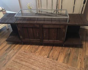 Rustic Wood TV Entertainment Stand _ Local Delivery/Pickup ONLY