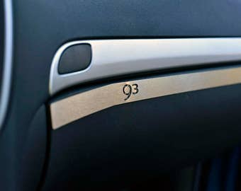 SAAB 9-3 93 II (2002-2015) YS3F Glove Box Cover | quality crafted custom stainless steel dash dashboard trim kits & accessories for your car
